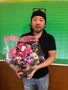 お祝いのお花をいただきました(*^-^*)